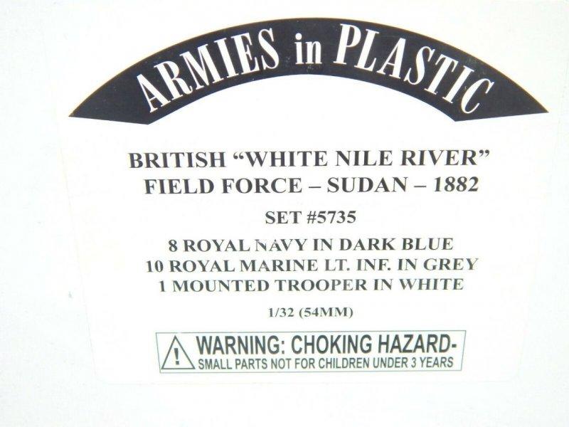 Image 0 of Armies In Plastic 1/32 British White Nile River Field Force Sudan 1882 Set 5735