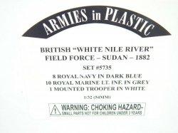 Armies In Plastic 1/32 British White Nile River Field Force Sudan 1882 Set 5735