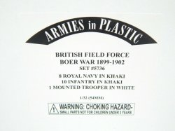 Armies In Plastic 1/32 British Field Force Boer War 1899 To 1902 Combo Set 5736