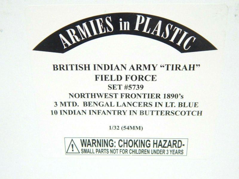 Image 0 of Armies In Plastic 1/32 British Indian Army Tirah Field Force 1890s Set 5739