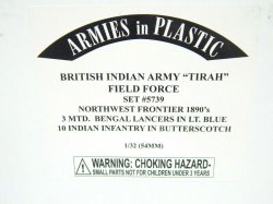 Armies In Plastic 1/32 British Indian Army Tirah Field Force 1890s Set 5739