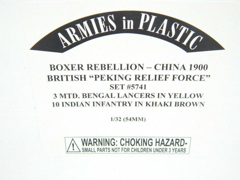 Image 0 of Armies In Plastic 1/32 Boxer Rebellion China 1900 British Peking Relief Set 5741
