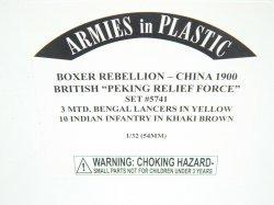Armies In Plastic 1/32 Boxer Rebellion China 1900 British Peking Relief Set 5741