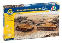 Italeri 1/72nd Scale WWII Italian Somovente M40 75/18 Tank Fast Model Kit 7519