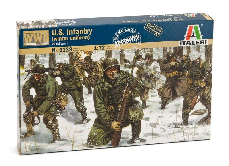 Image 0 of Italeri 1/72 WWII U.S. Infantry Winter Uniform Soldiers Set 6133