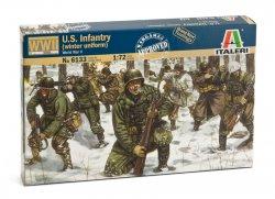 Italeri 1/72 WWII U.S. Infantry Winter Uniform Soldiers Set 6133