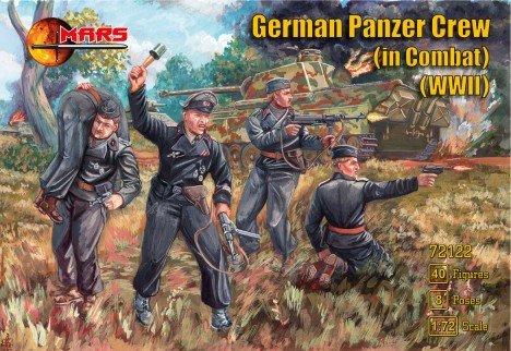 Image 0 of Mars 1/72 World War II German Panzer Crews In Combat Set 72122