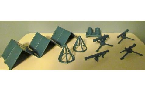 Image 0 of Marx Air Force Field Equipment Camp Airfield Plastic Set