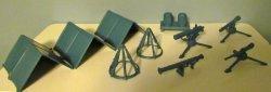Marx Air Force Field Equipment Camp Airfield Plastic Set