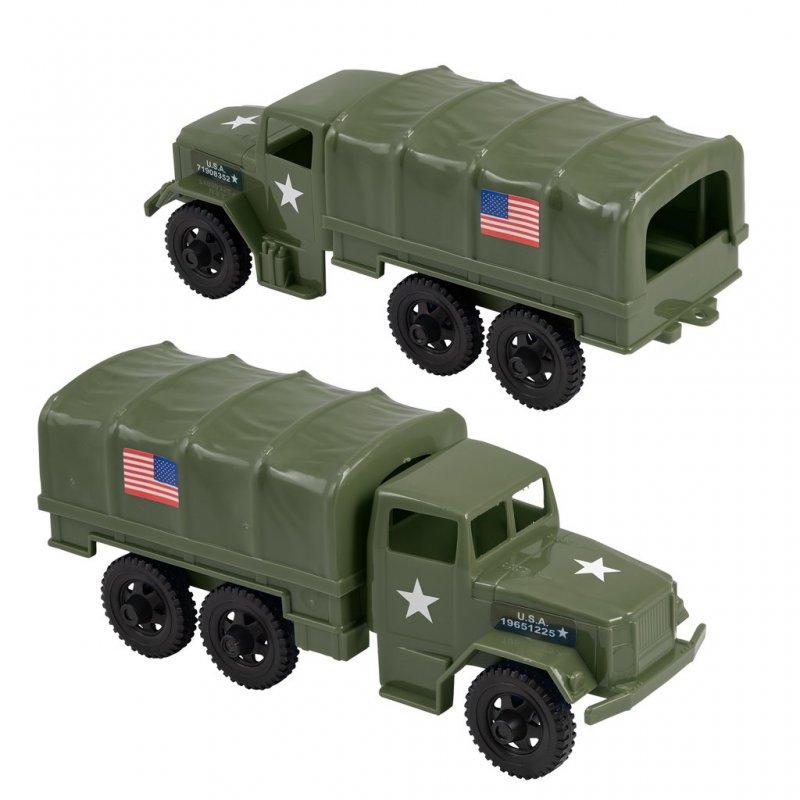 Image 0 of Timmee Reissue Pair 2 1/2 Ton M34 Plastic Cargo Trucks