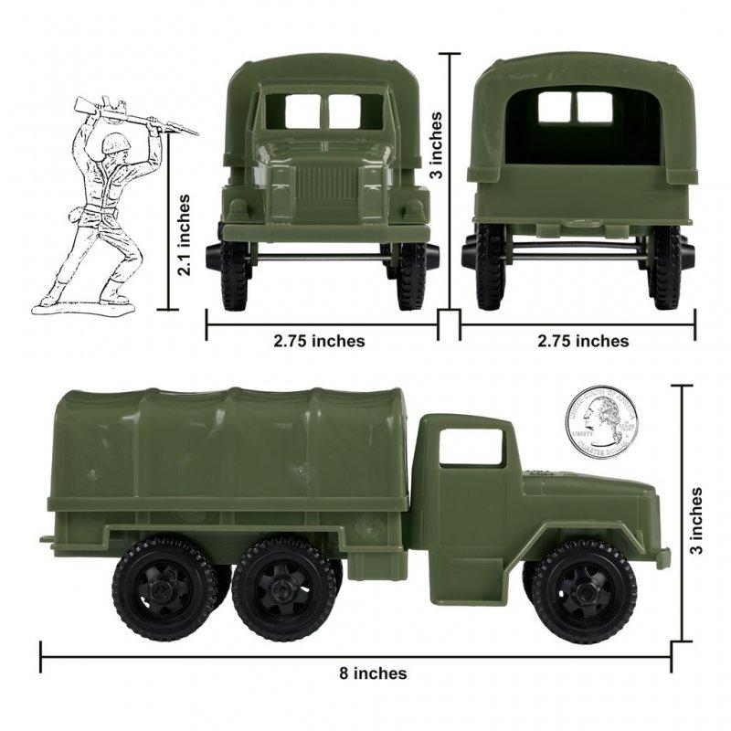 Image 2 of Timmee Reissue Pair 2 1/2 Ton M34 Plastic Cargo Trucks