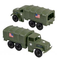 Timmee Reissue Pair 2 1/2 Ton M34 Plastic Cargo Trucks