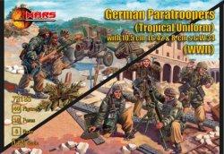 Mars 1/72 World War II German Paratroopers Tropical Uniform w/ Guns Set 72123