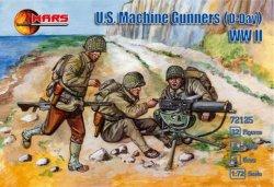 Mars 1/72 WWII U.S. Machine Gunners D-Day Plastic Soldiers Set 72125