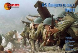 Mars 1/72 WWII U.S. Army Rangers D-Day Plastic Soldiers Set 72126