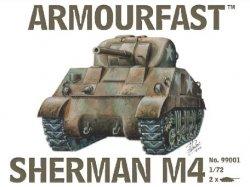 Armourfast 1/72nd Scale WWII U.S. Sherman M4 Medium Tank Kit #99001