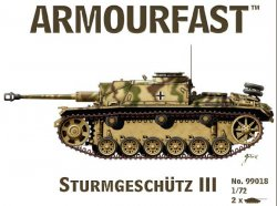 Armourfast 1/72nd Scale WWII US Sherman M4A3 Tank w/75mm Gun Kit # 99014