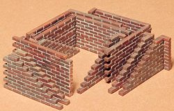 Tamiya 1/35th Scale Plastic Brick Wall Set # 35028