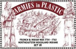 AIP French & Indian War 1/32nd Woodland Indians Set # 5547