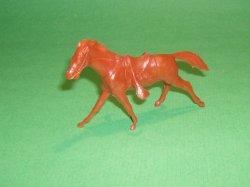 Marx Recast Brown Plastic Cavalry Western Horse