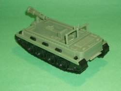 MPC Recast Green Plastic Weasel Tracked Vehicle