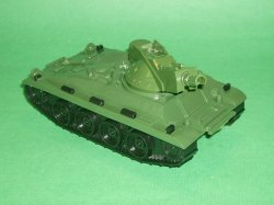 MPC Recast Green Plastic Army Tank