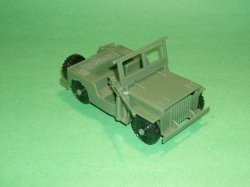 MPC Recast Green Plastic Army Jeep