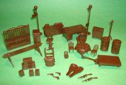 Marx Recast Untouchables Plastic Furniture Acccessories Set