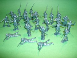 Marx Recast 25 Pc Union Infantry Plastic Soldiers Set