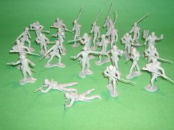 Marx Recast 25 Pc Confederate Infantry Plastic Soldiers Set