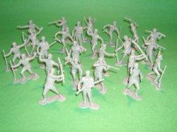 Marx Recast Alamo Brown Boonesboro Plastic Figures Set