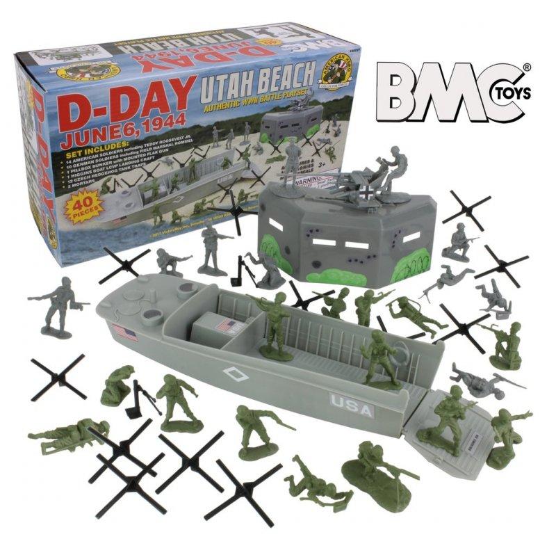 Image 0 of BMC WWII UTAH BEACH D-Day Shoebox Playset Series Set