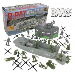 BMC WWII UTAH BEACH D-Day Shoebox Playset Series Set