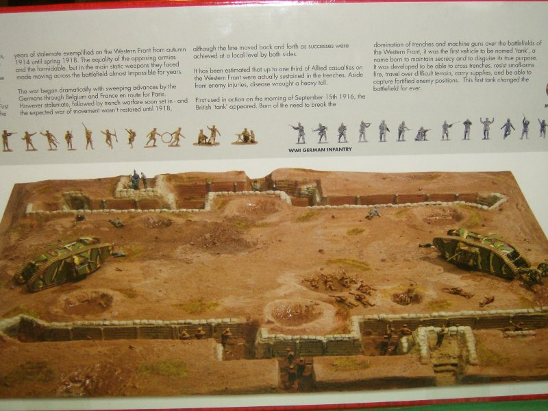 Western Bedroom Tank Toy Box Or: Airfix 1/72nd WWI Western Front Playset Diorama Set