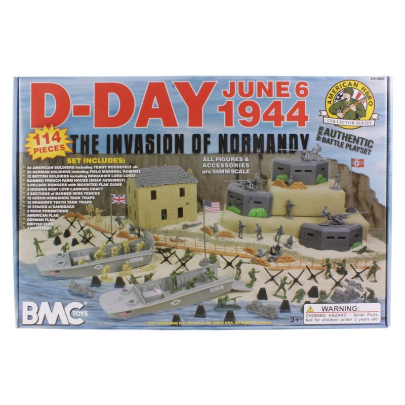 Image 0 of BMC Toys WWII D-DAY Invasion Of Normandy Playset