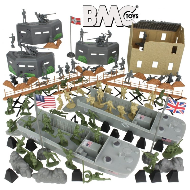 Image 1 of BMC Toys WWII D-DAY Invasion Of Normandy Playset
