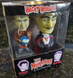 Thumbnail of The Munsters Grandpa Eddie Funko Wacky Wobbler bobble head set of 2