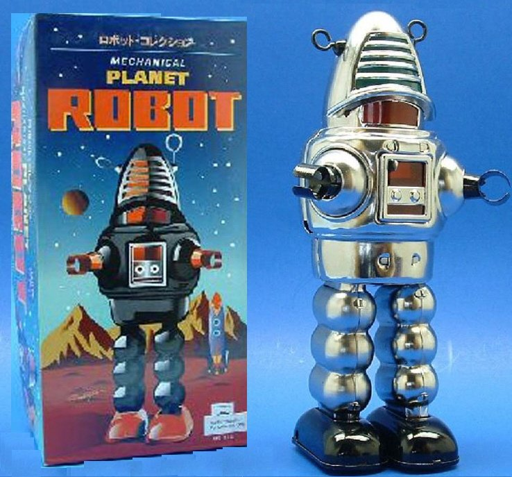 Planet Robot Wind-up Tin Robot