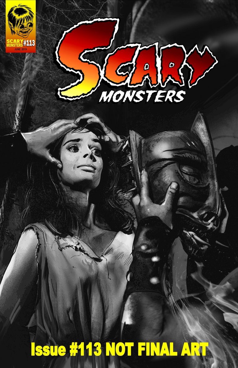 Scary Monsters #113 draft art