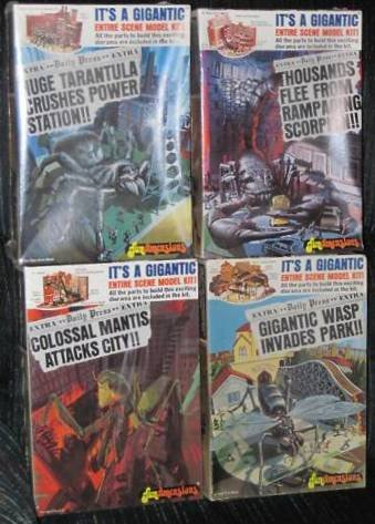 Fundimensions 1975 Vintage Giant Insect Model Kits All 4