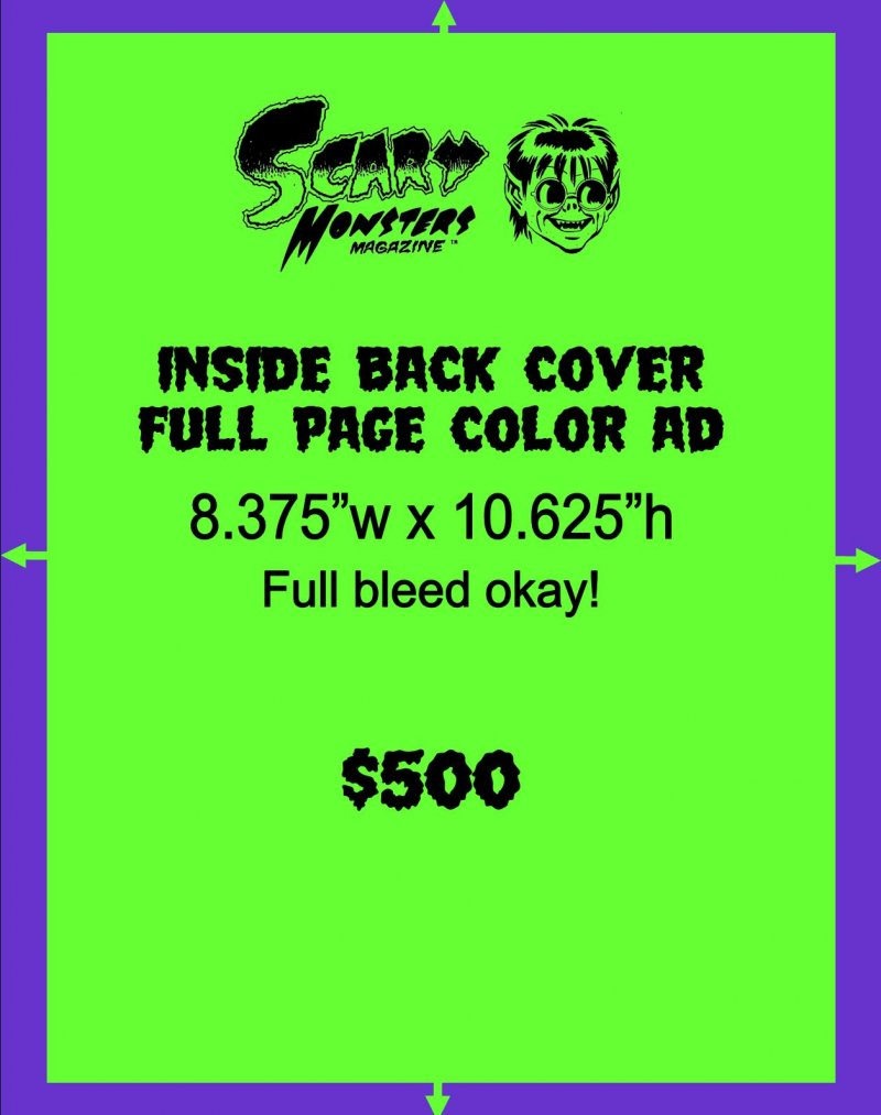 Inside back cover color ad