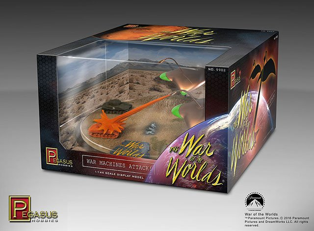 Pegasus War of the Worlds War Machines Attack Diorama 1:144 Build Up