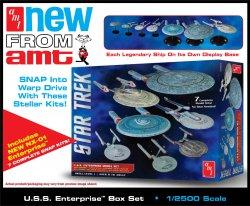 Thumbnail of AMT Star Trek U.S.S. Enterprise Model Set AMT954 7 Complete Kits -- JUST IN!
