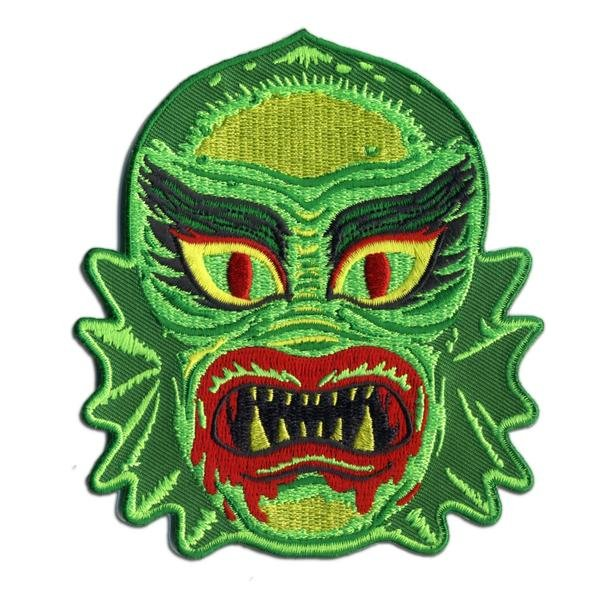 Fish Face Embroidered Patch