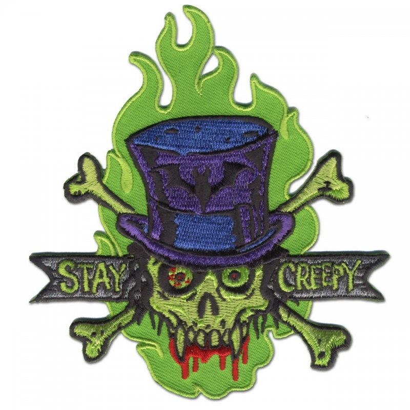 Stay Creepy Embroidered patch