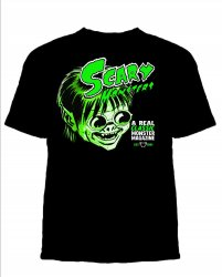 Thumbnail of BIG SAM SCARE Scary Monsters Martian Green Retro T-Shirt! Free U.S. Shipping