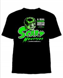 Thumbnail of LITTLE SAM SCARE Scary Monsters Martian Green Retro T-Shirt Free U.S. Shipping