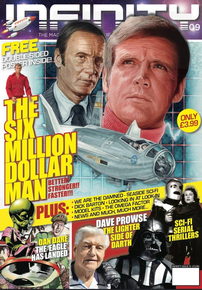 Thumbnail of INFINITY #9 - The Six Million Dollar Man - from the UK! - LATEST ISSUE!