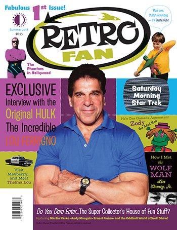 Thumbnail of RetroFan #1 - The Original Hulk, Lou Ferrigno! DEBUT ISSUE JUST IN!