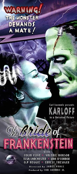 Bride of Frankenstein print